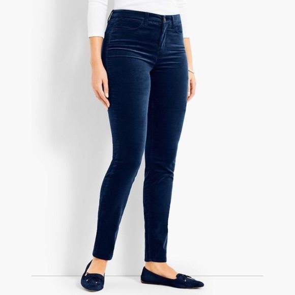 0bee74ac7d744 Talbots Jeans | Blue Navy High Rise Velour Jegging | Poshmark